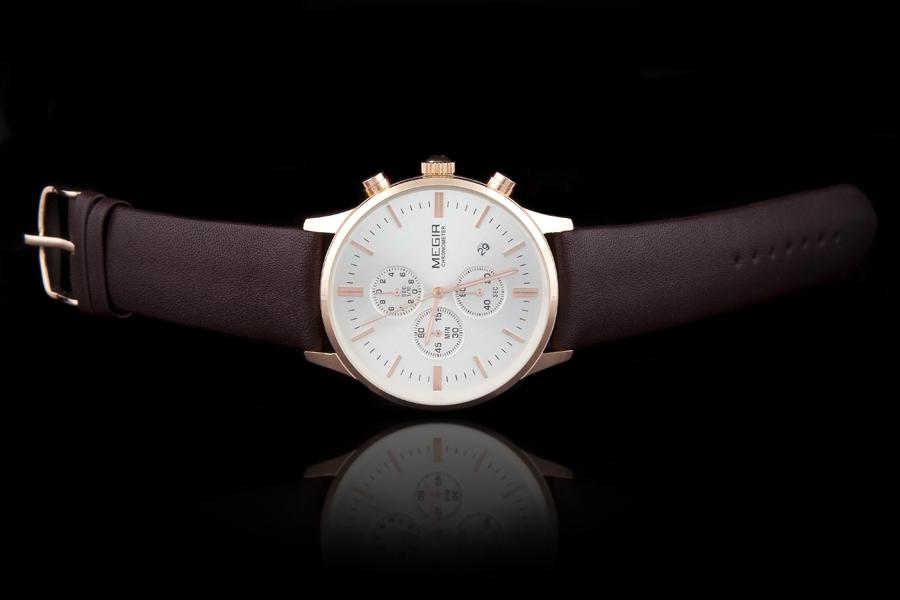 f6c6027e0a2 Nový model stylových pánských hodinek MEGIR Chronograph TLW11 - gold ...