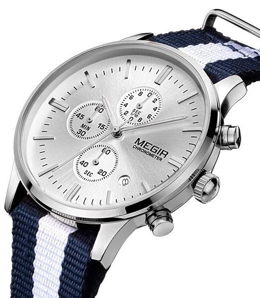 818d78c5241 ... Nový model stylových pánských hodinek MEGIR Chronograph TLW11 -  blue white. originální hodinky