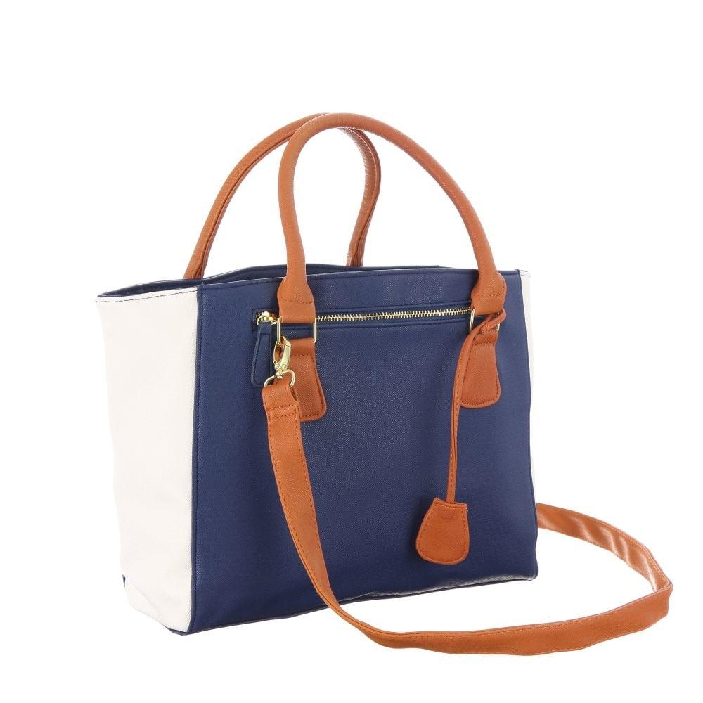 Krasaprozeny.cz - Elegantní kabelka s odnímatelným popruhem - modro ... 03c1a7e232