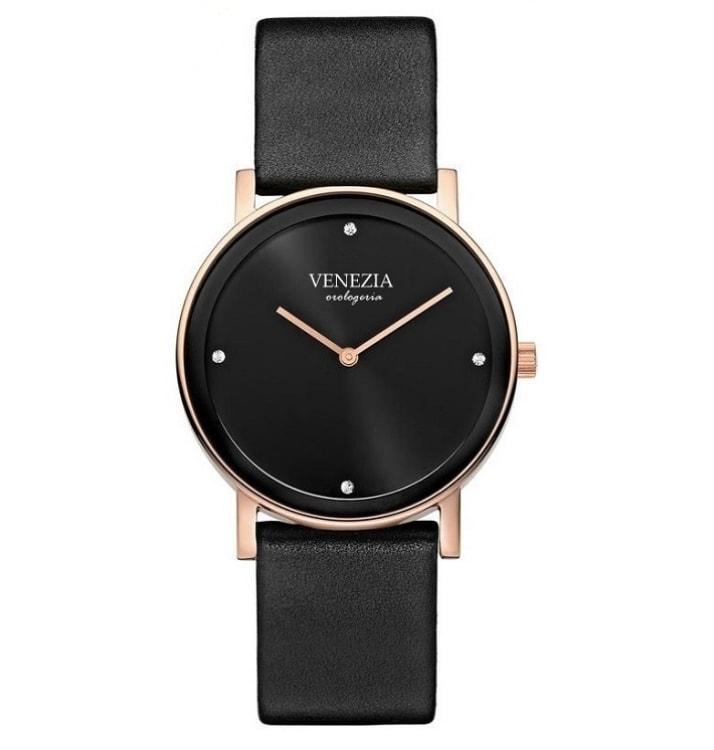 Krasaprozeny.cz - Luxusní elegantní hodinky VENEZIA Elegance - black ... b7433b24a4