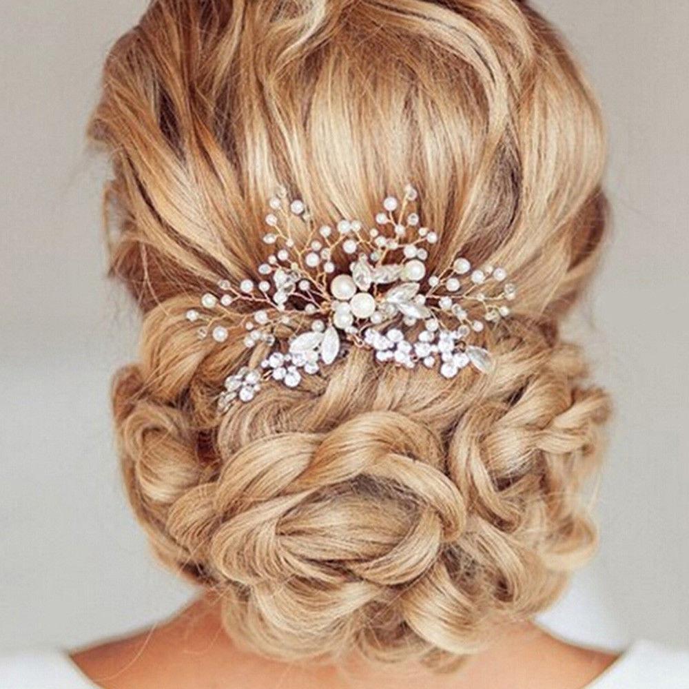 23898e0207a ... Vlasové doplňky » Ozdobná vlásenka s perličkami a kamínky. dokonalá  vlásenka