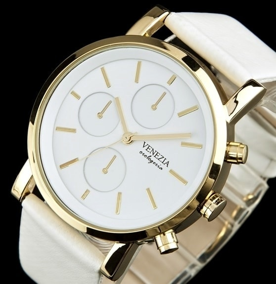 Dámské hodinky v antickém stylu VENEZIA kolekce SIMPLE SOHO - white gold 4695c69e43