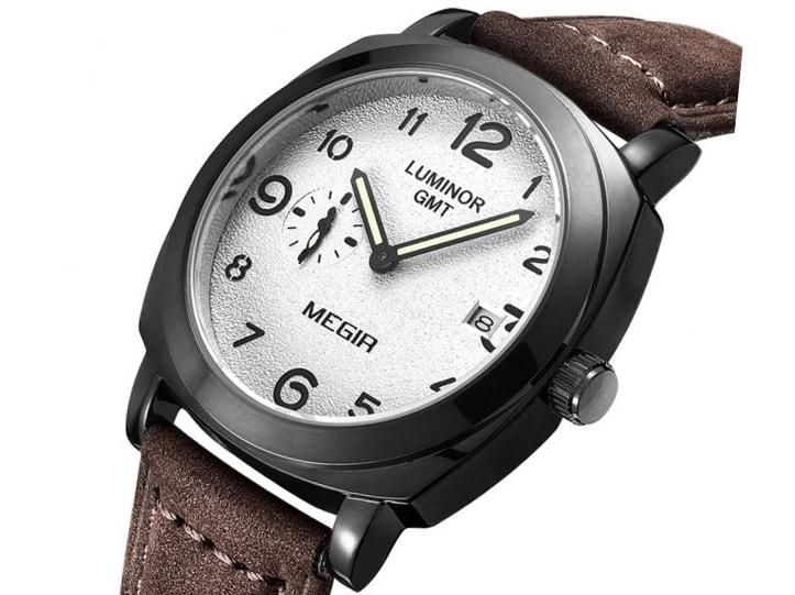 Krasaprozeny.cz - Originální pánské hodinky MEGIR - brown - Hodinky ... e8e6e354a1