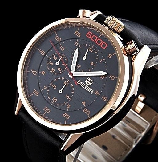 Krasaprozeny.cz - Pánské hodinky MEGIR 6000 v ležérním stylu pro ... b5dafb95dd