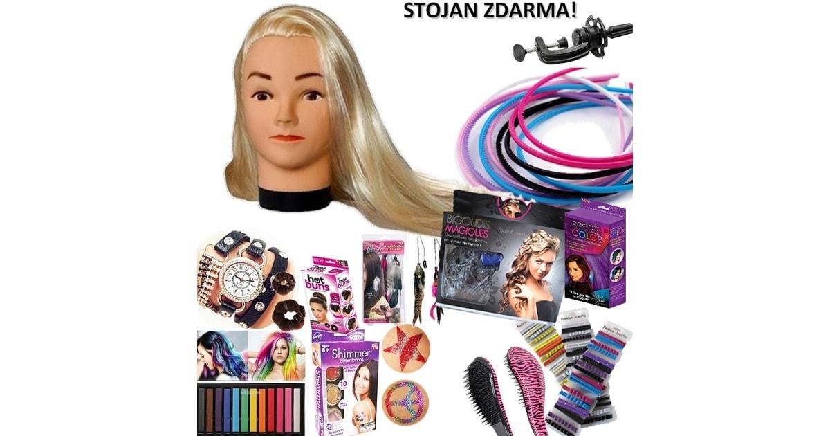 Krasaprozeny.cz - XXL Luxusní vánoční sada - Česací hlava blondýnka s mega  příslušenstvím – česací sada se šperky a doplňky do vlasů pro malé i velké  - HIT! 9090bfd3b6