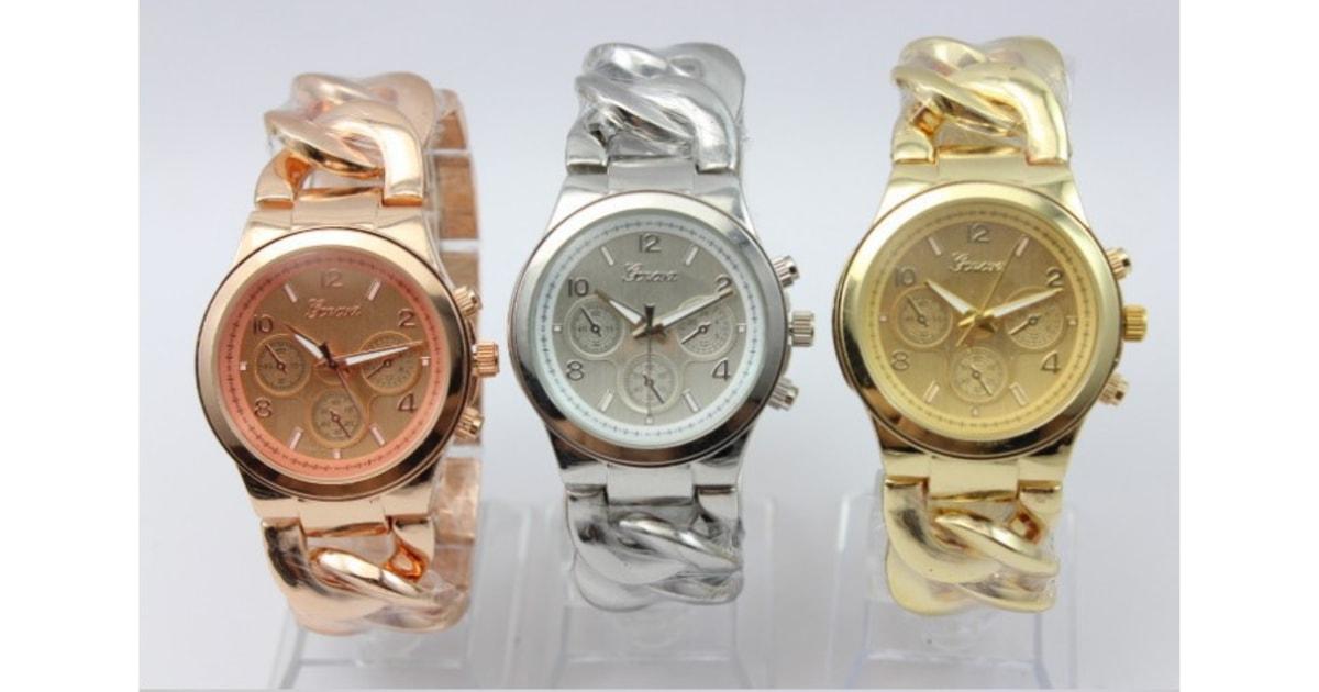 Krasaprozeny.cz - Luxusní dámské hodinky Geneva- výběr 4 barev - Hodinky -  MÓDNÍ DOPLŇKY f3d5d8c233
