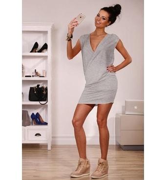 3eee6440bae4 Krasaprozeny.cz - AKCE - Sexy moderní oversize šaty - grey - Sukně ...