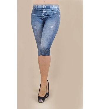5cfce67bcce Krasaprozeny.cz - Dámské 3 4 legíny - imitace jeans - vzor 3 - blue ...