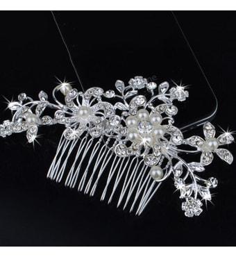 Krasaprozeny.cz - Luxusní vlásenka na hřebínku - Flower   Pearl ... 4ae8c0de9f