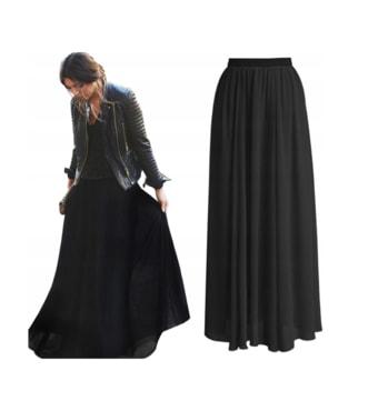 c81846d5beb3 Krasaprozeny.cz - Krásná maxi sukně - black - Sukně