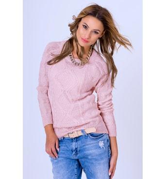 Krasaprozeny.cz - Dámský hřejivý svetr - pink - Svetry a1511f53c0