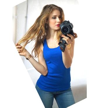 ... halenky » Dámské krajkové tílko - blue. stylové tílko 097057f4f5
