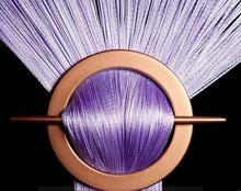 Provázková záclona Exkluzive- lila fialová