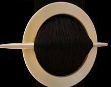 Provázková záclona Exkluzive- černá