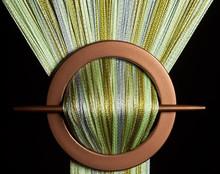 Provázková záclona De Luxe duo-effect- zelená