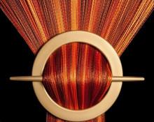 Provázková záclona De Luxe duo-effect - koňaková