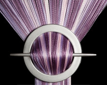 Provázková záclona De Luxe duo-effect- fialová