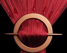 Provázková záclona Luxury s korálky - bordó