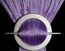 Provázková záclona Luxury s korálky- fialová