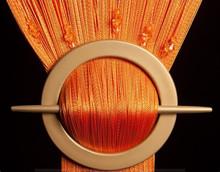 Provázková záclona Luxury s korálky- oranžová