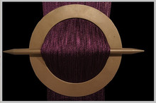 Provázková záclona Exkluzive- tmavě fialová