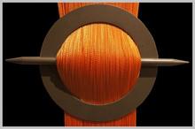 Provázková záclona Exkluzive- pomerančová