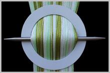 Provázková záclona De Luxe trio-effect- bílá-olivová-celadon