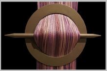 Provázková záclona De Luxe trio-effect-fialová-růžová-vřes