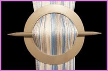 Provázková záclona De Luxe trio-effect- bílá-stříbrná-nebeská