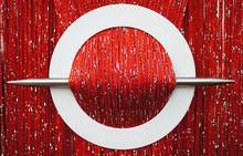 Provázková záclona Luxury - červená